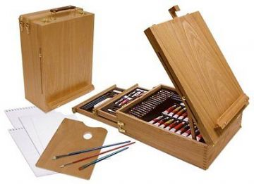 ARTISTS 150 PIECE ALL MEDIA ART SET IN WOODEN CASE BY ROYAL & LANGNICKEL